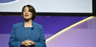 Amy Klobuchar at NAACP forum (Photo by Andrew Roth)