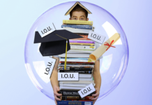 Student loan debt graduating IOU college cost