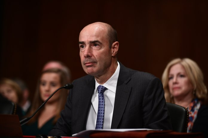 Eugene Scalia attends his confirmation hearing to become the next U.S. Labor Secretary in front of the the U.S. Senate Committee on Health, Education, Labor and Pensions (HELP) on Septembe