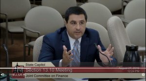 Attorney General Josh Kaul at the Joint Finance Committee meeting8/27/19