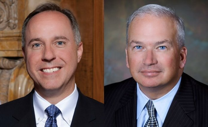Official portraits of Robin Vos and Scott Fitzgerald