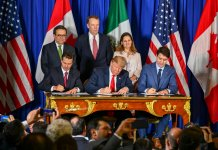 President Trump signs the USMCA trade agreement with Mexico and Canada