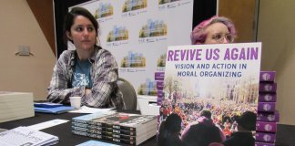 Books written by Rev. Barber and others were available at the Summit On Poverty (Photo by: Isiah Holmes)