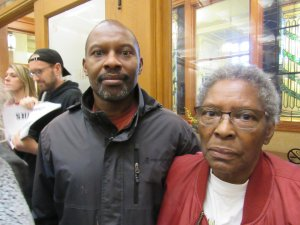 Kaith Terry (left) and his mother Wanda Terry (right) (Photo by: Isiah Holmes)