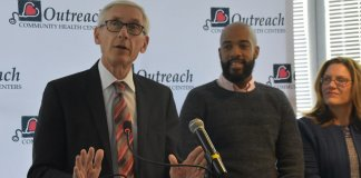 Gov. Tony Evers and Lt. Gov. Mandela Barnes make a pitch to get Wisconsinites signed up for healthcare in Milwaukee.