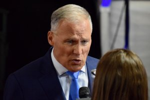 Jay Inslee after the second debate | Andrew Roth