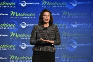 Gov. Gretchen Whitmer speaks at the Mackinac Policy Conference, May 29, 2019 | Andrew Roth