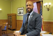 LT. Gov. Mandela Barnes in his office. (Photo by Isiah Holmes)