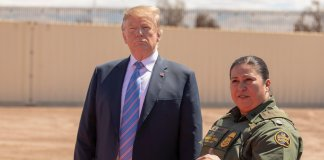 President Donald J. Trump visits newly installed border wall along the U.S.-Mexico Border near Calexico CA in April 2019. Photo by Mani Albrecht U.S. Customs and Border Protection