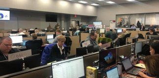 Representatives from Serve Wisconsin are working from the state emergency operation center to coordinate the volunteer response to COVID-19. (Serve Wisconsin | Facebook)