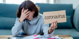 COVID-19 Global economic recession. Depressed woman desperate not able to pay rent and expenses. Worker affected by global economic recession amid to Coronavirus job losses and financial impact. Getty images