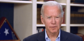 Joe Biden during a virtual roundtable discussion on rural issues (screenshot).