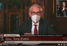 Gov. Tony Evers with mask