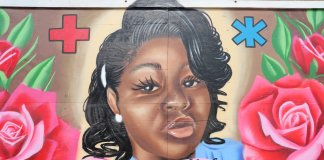 A mural honoring Breonna Taylor in Milwaukee, on Locust Street. (Photo by Isiah Holmes)A mural honoring Breonna Taylor in Milwaukee, on Locust Street. (Photo by Isiah Holmes)