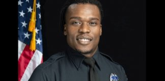 Officer Joseph Mensah (Screenshot taken from Mensah's Go Fund Me page)