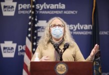 Department of Health Secretary Dr. Rachel Levine speaks at the virtual media briefing. (Pennsylvania Capital Star)