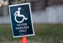 Accessible Voter Parking Only sign in St Paul, Minnesota | Lorie Shaull CC BY-SA 2.0