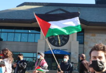 Milwaukee residents gather to stand in solidarity with Palestinian residents, as the Israeli government conducts an assault on Gaza. (Photo | Isiah Holmes)